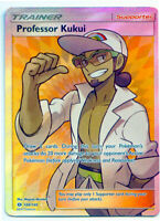 Professor Kukui 148/149 Holo Rare Sun & Moon Pokemon Card NM+ With Tracking