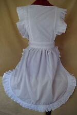 RETRO VINTAGE VICTORIAN STYLE FULL APRON / PINNY - WHITE (FC041VH)
