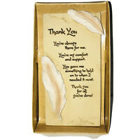 """Sentiments Arts In Stone """"Thank You"""" Plaque Wall Or Stand Frame"""
