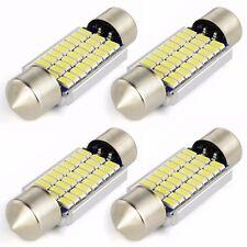 4X Festoon Dome Led Map Light 3014 27SMD 36mm C5W Canbus Error Free LED Bulbs