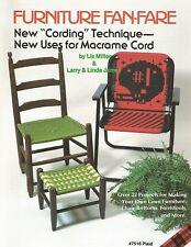 Furniture Fan-Fare 1 Macrame Vintage Pattern Book Liz Miller Lawn Patio Chairs