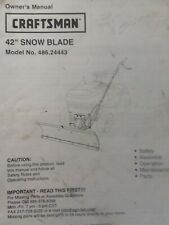 """Craftsman Sears 42"""" LT Dozer Blade Lawn Tractor Owner & Parts Manual 486.24443"""