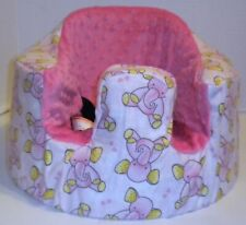 New Bumbo Floor Seat Cover • Pink Elephants w/Pink Seat • Safety Strap Ready