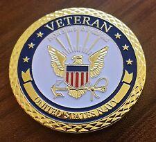 U.S. Navy Veteran non sibi sed patriae challenge coin honor courage commitment