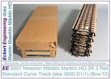 EE 5007 BRASS NEW Marklin HO 3R 3 Rail Full Straight Track Box10 3600D1/1 24-Tie