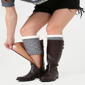 Winter Leg Knit Knee Cover Thick Knee Pads Boot Cover Ladies Fashion Socks YG