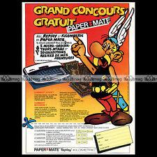 ASTERIX & PAPER MATE Stylo Replay Uderzo 1985 - Pub / Publicité / Ad #A20