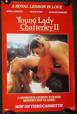 YOUNG LADY CHATTERLEY II 2 1980S ORIGINAL ROLLED VIDEO MOVIE POSTER ADAM WEST