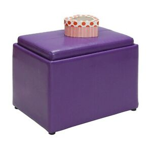 Convenience Concepts Designs4Comfort Accent Storage Ottoman, Purple - 143523PP