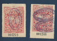 ARGENTINA PROSTITUTION TAX STAMPS MATCHING SERIAL NUMBERS SANITARIO ROSARIO
