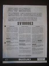 SUZUKI SV1000K3 Set Up Manual SV 1000 K3 Set-Up 99505-01243-011 Motorcycle