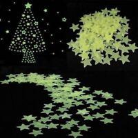100pcs Glow In The Dark Luminous Stars & Moon Wall Stickers Decal Kid Room Decor