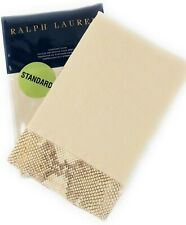 Ralph Lauren Great Sands 2 standard sham set tan cream python linen New $370