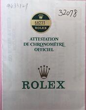 Original Vintage Rolex Watch 68273  / 9433121 Used   Certificate Guarantee A20