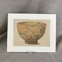 1890 Antico Stampa Giapponese Kyoto Porcellana Ciotola 19th Secolo Ceramica