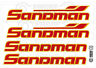 Holden VF - SANDMAN RED WITH ORANGE XX Large Decal  - 4 LARGE Stickers