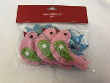 Tree Ornament Holiday Time Star and Bird Christmas Decorations Set 6 Xmas Gift