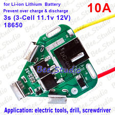 3S 11.1V 12.6v Electric Drill Tools 18650 Lithium Battery BMS Protection Board