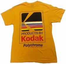 Kodak Camera Polychrome Graphics Vintage Mens T-Shirt (Yellow)