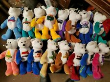 """12 Different 9"""" Limited Treasures United States Coin Bears (Quarter)"""