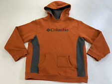YOUTH COLUMBIA SPORTSWEAR COMPANY HOODIE SWEATSHIRT ORANGE  Sz Med
