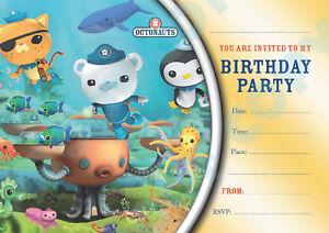 #80 OCTONAUTS Pack of 10 kids children birthday party INVITATIONS