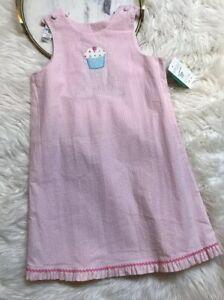 Glorimont Girls Reversible Dress Size 6X Cupcake Castle Applique