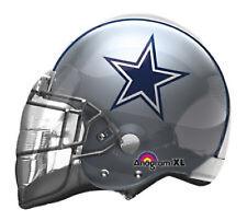 "Dallas Cowboys Helmet XL Balloon 21"" Shaped Mylar Birthday Party NFL Football"