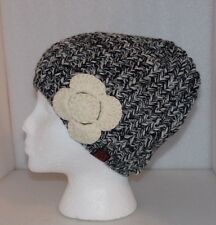 New NCAA AUBURN TIGERS The Game LADIES KNIT HAT with FLOWER Beanie Black & White