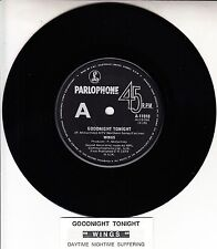 PAUL McCARTNEY & WINGS Goodnight Tonight  BEATLES record + juke box title strip