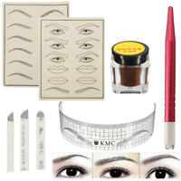 Microblading Permanent 3D Makeup Eyebrow Tattoo Pigment Needle Pen Kits Sets