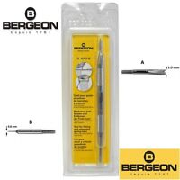 Bergeon Swiss Made 6767 S Watch Spring Bar Tool with Fine Pin and Fork Ends
