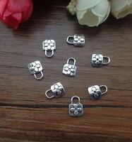 Wholesale 16pcs Tibet silver Lock Charm Pendant beaded Jewelry Findings DIY  ^%4