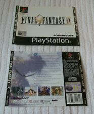 PLAYSTATION ONE GAME INLAY/ARTWORK COVERS  *** FINAL FANTASY IX  *** VGC
