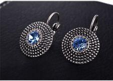 ORECCHINI ARGENTATI ZIRCONE 1,5 CM - Earrings Silver Women Simple Blue Zircon
