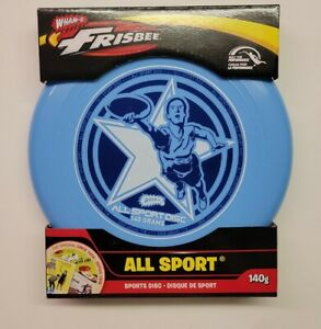 WHAM-O Frisbee All Sports Tech Specs Disc 140g Blue Built for Performance NEW