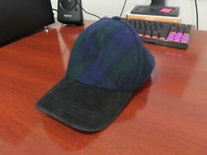 Fred Perry tartan cap/hat. Used