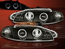 1997-1999 Mitsubishi Eclipse Projector Headlights Black Two Halo LED