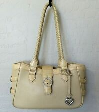 Brighton Small Tote Bag Beige Leather Handbag