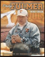 Phillip Fulmer Signed 8x10 Photo College NCAA Football Coach Autograph Tennessee