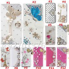 Handmade Magnetic Bling Luxury Diamonds Crystal Leather wallet flip Cover Case G