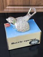 New Silver Plated Sparrow Bird 2 Way Bottle Cap Opener