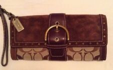 Coach  Clutch Leather Vintage Brown Wristlet Free Shipping MSRP $250.00