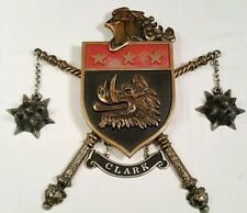 Boar's Head Metal Wall Decor Medieval Knight Coat Of Arms Shield Crest 1968 Art
