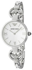 Emporio Armani AR1772 Gianni T-Bar Silver Dial Stainless Steel Women's Watch