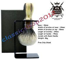 """MS - Extra Density 2 Band 100% Finest Badger Shaving Brush - """"Memphis"""" 26mm Knot"""