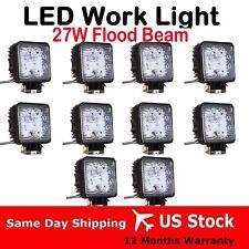 10pcs x 27W LED work flood Light square 12V 24V for Offroad JEEP Truck 4x4 Boat