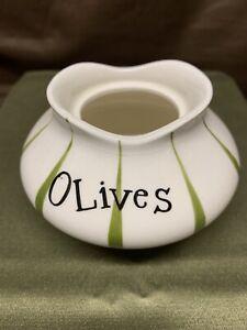 Vintage Holt Howard OLIVES Condiment PIXIEWARE Jar BOTTOM ONLY!