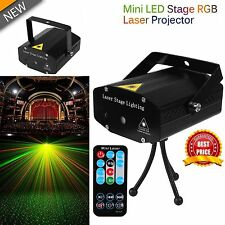 Mini LED Proyector Láser Luz Giratoria Efecto DJ Disco Stage Laser Light R&G