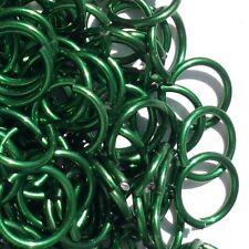 GREEN Anodized Aluminum JUMP RINGS 500 5/32 18g SAW CUT Chainmail chain mail